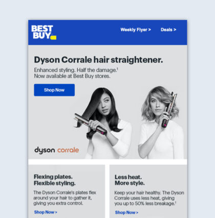 Dyson Corrale Launch with A/B Test