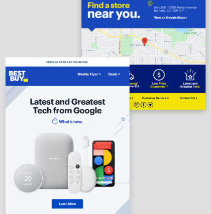 Best Buy Canada | Google Launch newsletter